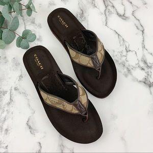COACH Jolie Flip Flop Sandals Sz 7